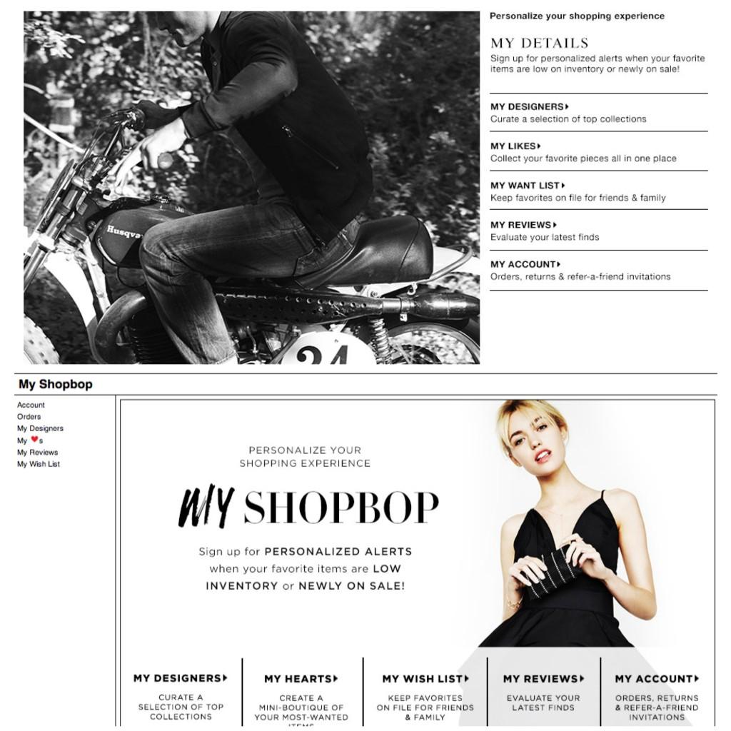 Shopbop Comparison